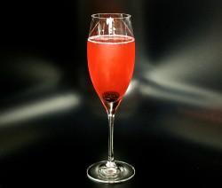 Tart Cherry Champagne Cocktail
