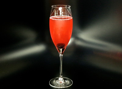Tart Cherry Champagne Cocktail