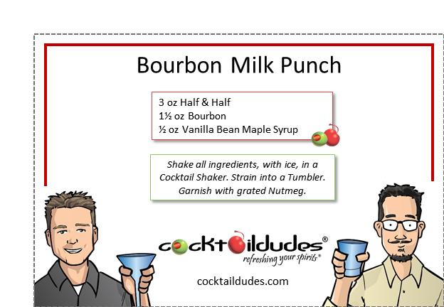 Bourbon Milk Punch | cocktaildudes
