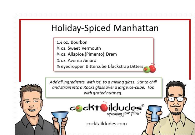 Holiday-Spiced Manhattan   cocktaildudes