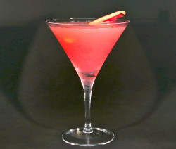 Ginger Rhubarb Martini