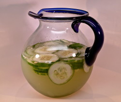 Basil-Cucumber Gimlet (pitcher)